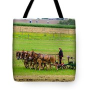 Amish Farmer Tote Bag by Guy Whiteley