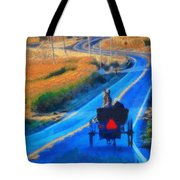 Amish Horse And Buggy In Autumn Tote Bag