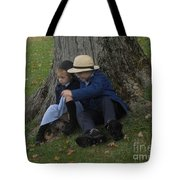 Amish Kids Tote Bag by R A W M