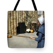 Amish Making Apple Butter Tote Bag