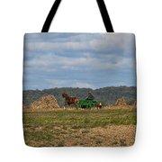 Amish Man Boy Buggy Tote Bag