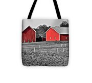 Amish Red Barn And Farm Tote Bag