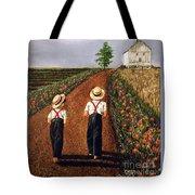 Amish Road Tote Bag by Linda Simon