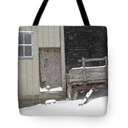 Amish Snowfall Tote Bag