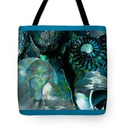 Ammonite Seascape Tote Bag