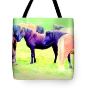 A Horse Most Of All Wanna Be One Among The Other Horses Tote Bag