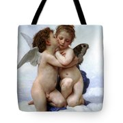 Amor And Psyche  Tote Bag by Munir Alawi
