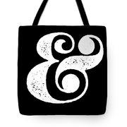 Ampersand Poster Black Tote Bag