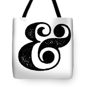 Ampersand Poster White Tote Bag