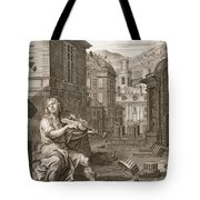 Amphion Builds The Walls Of Thebes Tote Bag by Bernard Picart
