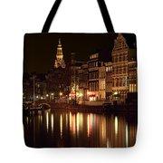 Amsterdam At Night Tote Bag