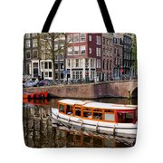 Amsterdam Canal And Houses Tote Bag