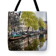 Amsterdam Canal In Spring Tote Bag