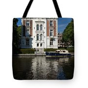 Amsterdam Canal Mansions - Bright White Symmetry  Tote Bag