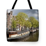 Amsterdam Canal Waterfront Tote Bag