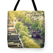 Amsterdam Holland Netherlands In Vintage Style Tote Bag