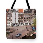 Amsterdam Houses From Above Tote Bag