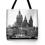 Amsterdam In Black And White Tote Bag