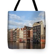 Amsterdam Old Town At Sunset Tote Bag