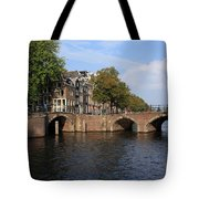 Amsterdam Stone Arch Bridge Tote Bag