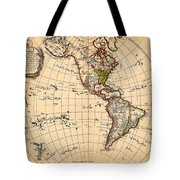Amtique Map Americas Tote Bag