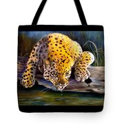 Amur Leopard  Spotted Something Tote Bag