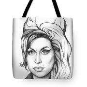 Amy Winehouse Tote Bag by Olga Shvartsur