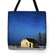 An Abandoned Homestead On A Snow Tote Bag