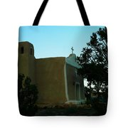 An Adobe Church In New Mexico Tote Bag