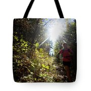 An Adult Woman Trail Running Tote Bag