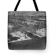 An Aerial View Of Ellis Island Tote Bag