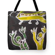 An Aeroplane Moving In The Sky Tote Bag