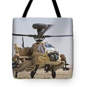 An Ah-64d Saraf Attack Helicopter Tote Bag