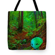 An Alien In A Cosmic Forest Of Time Tote Bag