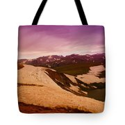 An Alpine Lake Near The Top Of Beartooth Pass  Tote Bag
