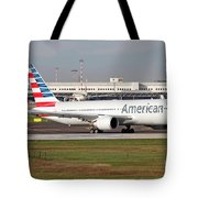 An American Airlines Boeing 767 Tote Bag