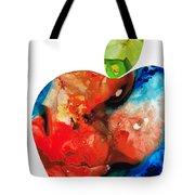 An Apple A Day - Colorful Fruit Art By Sharon Cummings  Tote Bag by Sharon Cummings