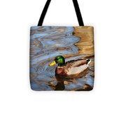 An Autumn Swim Tote Bag