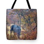 An Elephant Making Its Way Tote Bag