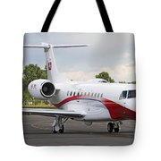 An Embraer Legacy 600 Private Jet Tote Bag
