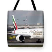An Emirates Boeing 777 At Milano Tote Bag