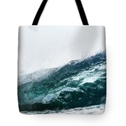 An Empty Wave Breaks Over A Shallow Reef Tote Bag