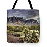 An Evening At The Superstitions Tote Bag