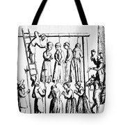 An Execution Of Witches In England Tote Bag