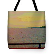 An Expanse Of Sky And Sea Twilight Fishing The Canal St Lawrence River Scenes Art Carole Spandau Tote Bag