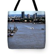 An Expansive View From The Tower Bridge Tote Bag