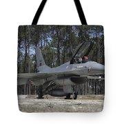An F-16a Fighting Falcon Tote Bag