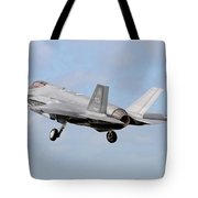 An F-35a Taking Off From Eglin Air Tote Bag