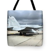 An Fa-18c Hornet On The Ramp At Marine Tote Bag