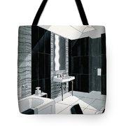 An Illustration Of A Bathroom Tote Bag